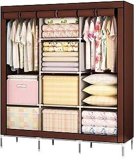 CXVBVNGHDF Armoire en Tissu Armoire à vêtements, Placard Portable Armoire de Rangement Placard Debout Armoire en Tissu Arm...