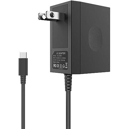 Cargador para Nintendo Switch, YCCTEAM Switch Charger Adaptador de CA 15V / 2.6A Reemplazo de carga rápida para Nintendo Switch / Switch Lite con cable tipo C de 5 pies, modo TV compatible y base