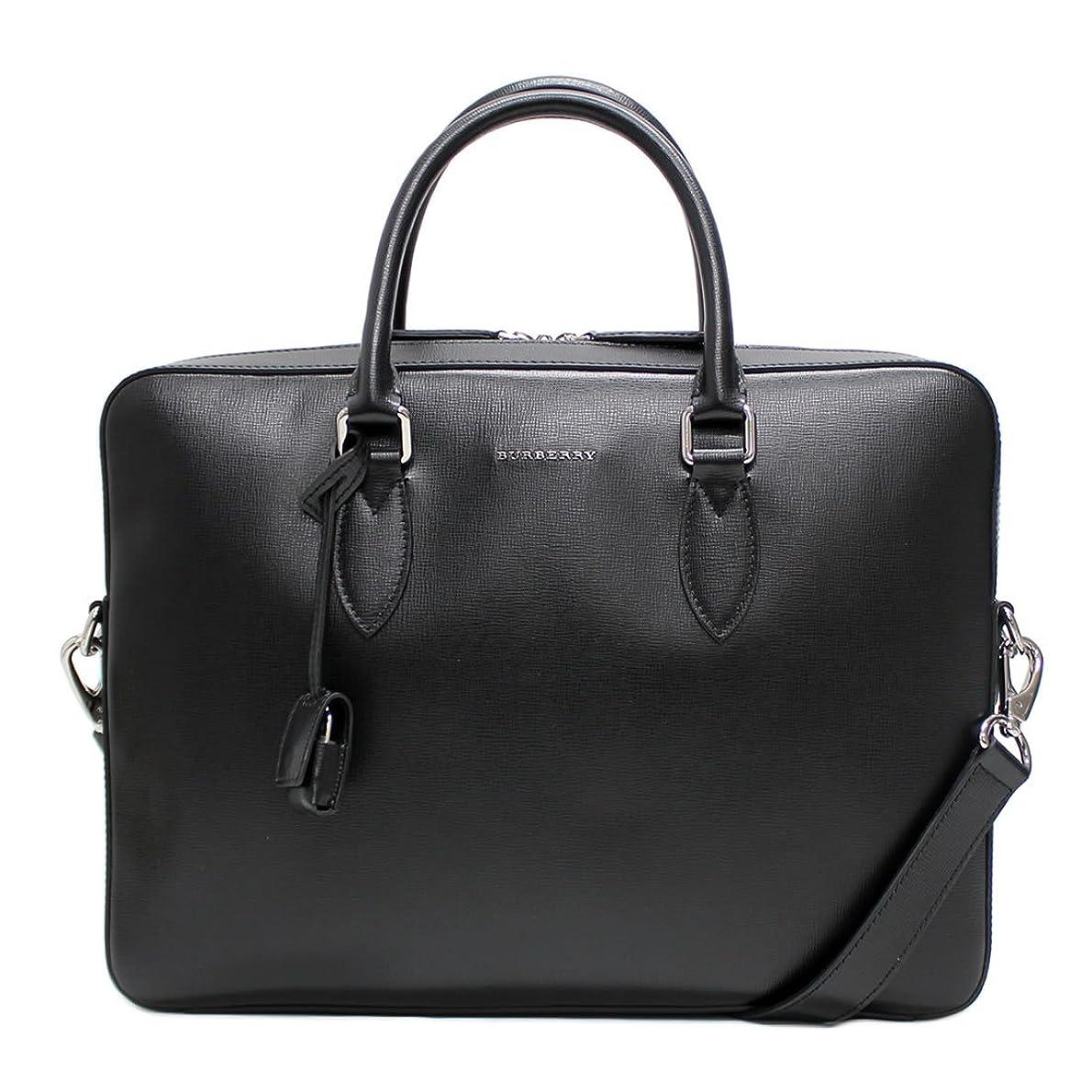 水没構想するの前でバーバリー BURBERRY 3997692 London Leather Black メンズビジネスバッグ [並行輸入品]