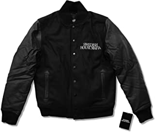 Swedish House Mafia Embroidered Wool & Faux Leather Varsity Jacket (L) Black