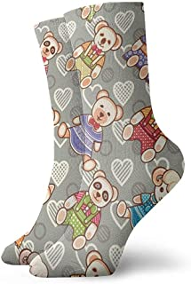 Be-ryl, Calcetines Deportivos para el Tobillo para Mujer Calcetines de Entrenamiento para Animales de Juguete para niños