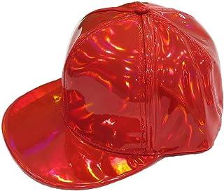 [RONDEL-BLACK(ロンデルブラック)]キャップ CAP ダンス衣装 シャイニーカラー 光沢 帽子 カラー帽 派手 ステージ衣装 NF red