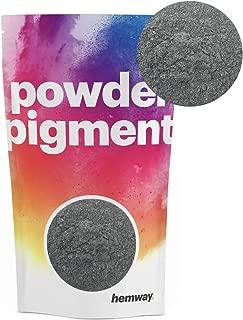 Hemway Pigment Powder Colour Luxury Ultra-Sparkle Dye Metallic Pigments for Epoxy Resin, Polyurethane Paint (Metallic Moon Rock Grey, 50g / 1.75oz)