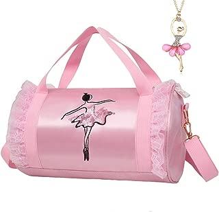 Cute Ballet Dance Bag Tutu Dress Bag with Necklace Girls (Pink2 of Short Mesh)