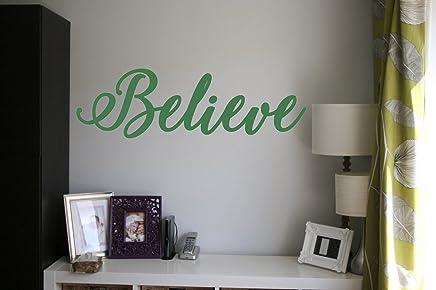 Bedroom Home Believe Quote Vinyl Wall Art Sticker Decal Mural Mirror Window