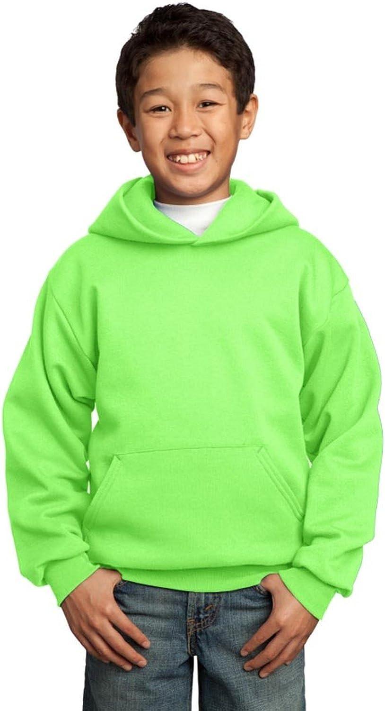 PORT AND COMPANY Fleece Pullover Hooded Sweatshirt (PC90YH) Neon Green, L