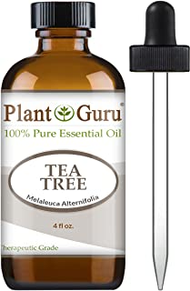 Tea Tree Essential Oil 4 oz 100% Pure Undiluted Therapeutic Grade Extract of Melaleuca Alternifolia for Skin, Body, Hair Growth, Scalp Dandruff, Acne and Aromatherapy Diffuser Humidifier
