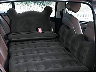 SjYsXm Colchón inflable de aire para coche con bomba de asiento trasero, portátil, para viajes, camping, vacaciones, cama flotante, almohadilla de cama para dormir, compatible con SUV, camión, minivan