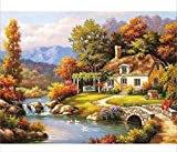 BHDSV Paint by Number Kit DIY Oil Painting On Canvas Mounted Halloween Theme Set Principiantes oliday s-No Frame-40x50cm