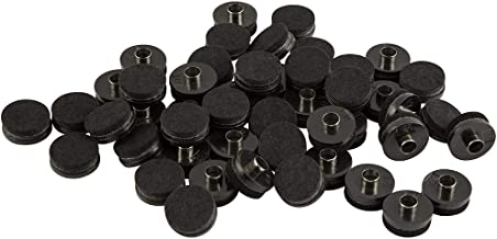 SOFTTOUCH 4990395N Nail on Heavy Duty Felt Pads for Wood Furniture to Protect Your Hard Floor Surfaces from Scratches, 1 Inch, Black, 48 Piece