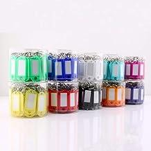 50, kleur plastic sleutelhanger, bagagelabel, sleutelhanger met label en visitekaartje-Lichtblauw