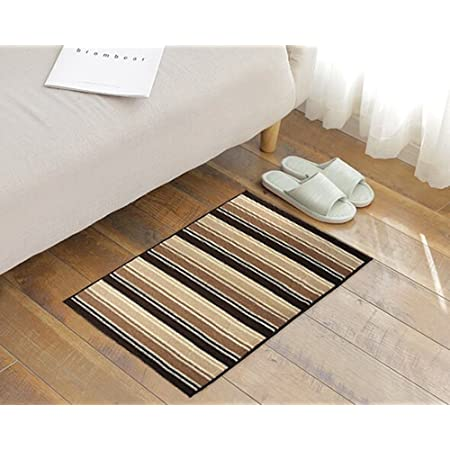 Amazon Com Yk Decor Accent Doormats Non Slip Indoor Outdoor Door Mat With Latex Backing Inside Entrance Rugs Kitchen Dining Living Hallway Pet Entry Rugs 27 X 45 Brown D Furniture Decor