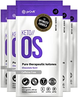 KETO//OS Chocolate Swirl No Caffeine, BHB Salts Ketogenic Supplement - Beta Hydroxybutyrates Exogenous Ketones for Fat Loss, Workout Energy Boost and Weight Management through Fast Ketosis, 30 Sachets