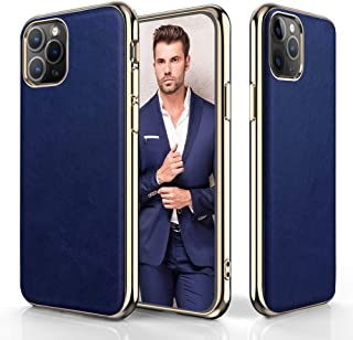 LOHASIC for iPhone 11 Pro Case, Premium Leather Slim Fit Luxury PU Elite Coated Textured Classy Vintage Cases Compatible with Apple iPhone 11 Pro 5.8 inch (2019) - Blue