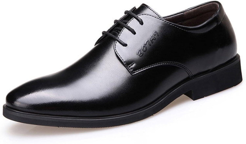 LEDLFIE Herrenschuhe Herrenschuhe Herrenschuhe Frühling Herren Business Kleid Lederschuhe Britischen Schnürsenkel Freizeitschuhe Niedrige Schuhe  b099b2
