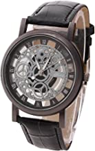 Best hollow dial leather watchband wrist Reviews