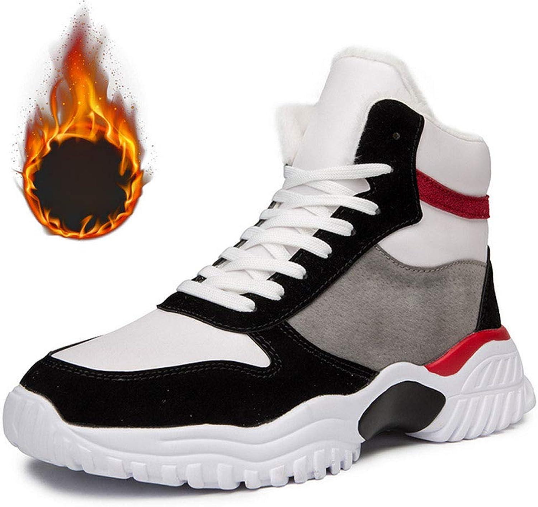 JHHXW Basketballschuhe, Laufschuhe, dazu samtwarme Herrenschuhe, High-Top-Schuhe, dünner Schnitt Dicker Abschnitt