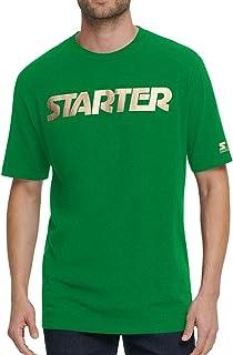 Starter Mens T-Shirt Green Small S Metallic Foil Logo Short Sleeve Crewneck 033