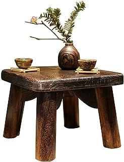 JFFFFWI Table Basse Salle à Manger Table à Manger en Bois Massif Chambre à Coucher Balcon Table de Baie vitrée Table carré...