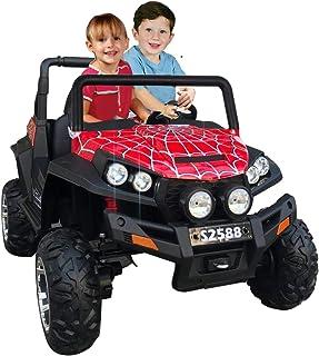 Megastar - Ride On Spider Webster Design Suv 2 seater Knocker Wagon - Red