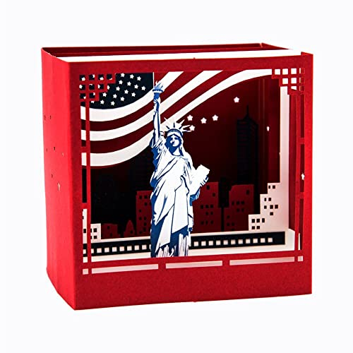 3D Pop Up Landscape Of New York City Statue Liberty Creative Carving Greeting Card