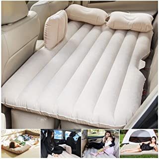 Car Travel Bed 138 * 85 * 45Cm SUV Air Mattresses Car Inflatable Travel Bed for Camping Children Rear Double Adjustable Sl...