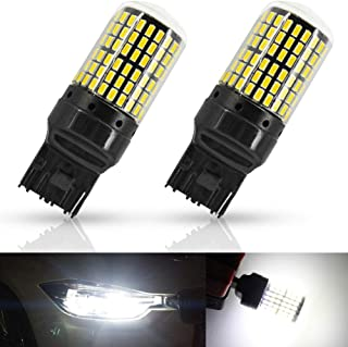 7440 T20 LED Bulb White Reverse Lights Turn Signal Canbus 7441 7443 7444 992 W21W 144 SMD 1200 Lumens Projector For Backup...