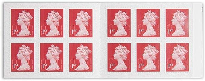 Royal Mail Sellos postales autoadhesivos de primera clase con letras grandes Paquete de 12 Oro: Amazon.es: Electrónica