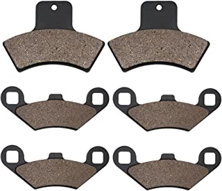 Cyleto Front and Rear Brake Pads for POLARIS 500 Sportsman/Worker 4 x 4 EBS / 500 RSE 1998 1999 2000 2001 2002