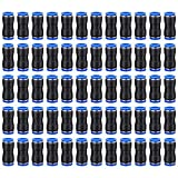 60Pcs Straight Push Connectors Quick Release Pneumatic Fittings Connectors Air Line Quick Connect Fittings Kit for 1/4 5/16 3/8 1/2 Inch Od Tube