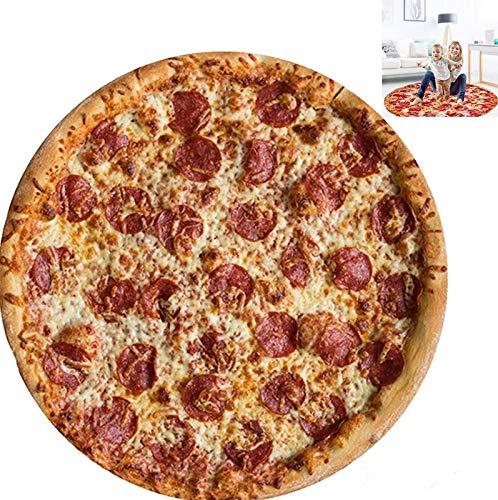 Wifehelper Confort 3D Pizza Imprimir Toalla de Playa Camping Picnic Estera Manta Yoga Alfombra Toallas de baño Tapicería de Pared(# 2)