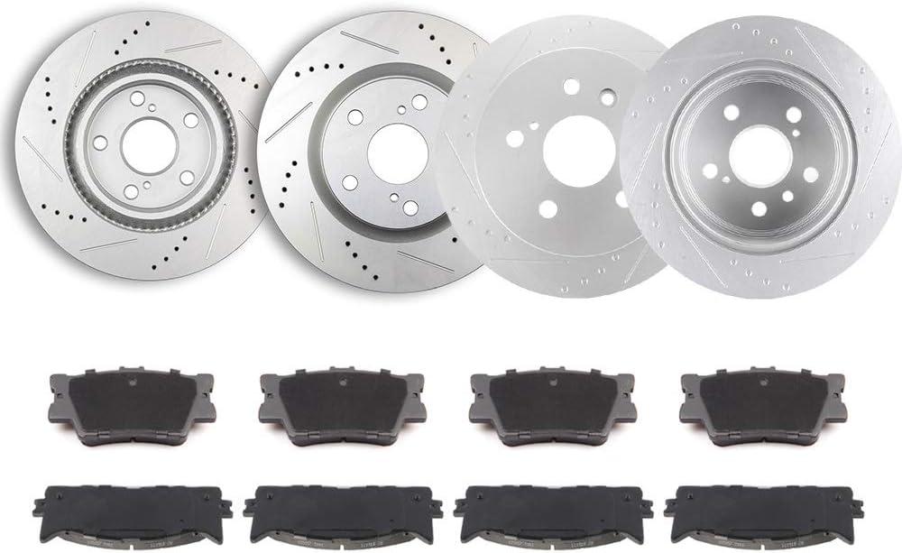 激安特価品 TUPARTS Brake Disc Rotors + CeR-amic 20 for 別倉庫からの配送 Rear Front Pads Fits