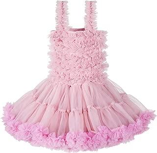 Baby Girl's Fluffy Dance Tutu Skirt Soft Tulle Ballet Pettiskirt Dress Set for 1-10T