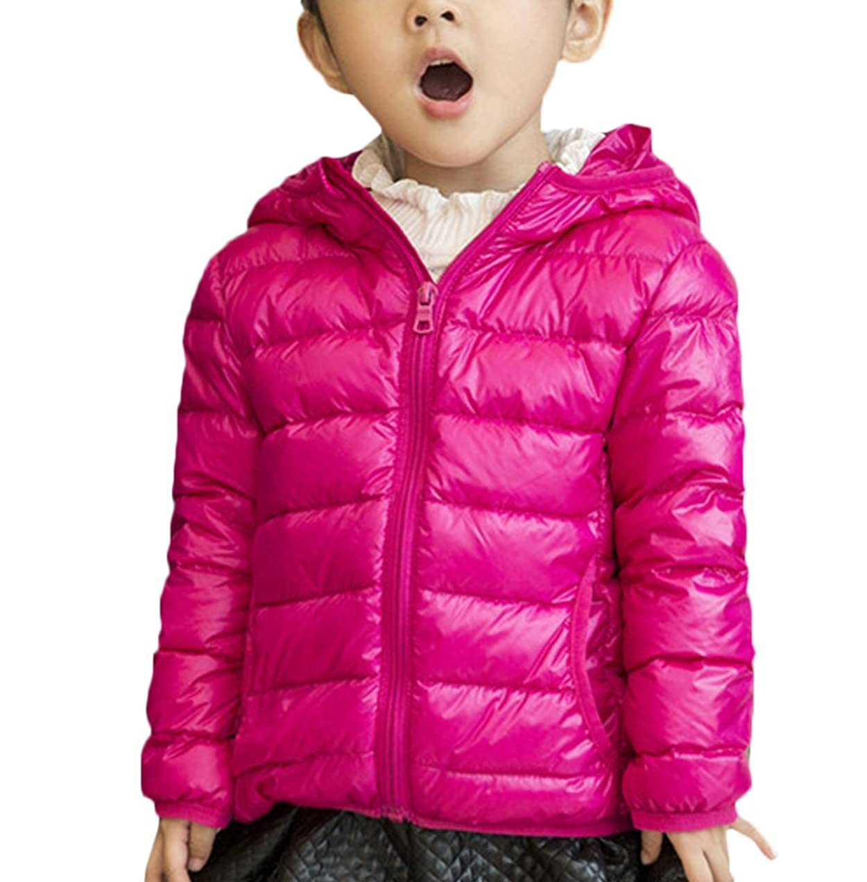 寛大なリマーク疲労ZUOMA子供服 キッズダウンコート 男女兼用 軽量コート 綿入上着 ベビーウエア