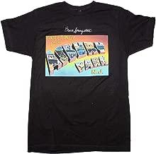 FEAMerch Bruce Springsteen Men's Postcard Greetings from Asbury Park Slim Fit T-Shirt Black XL