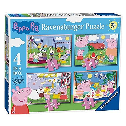 Ravensburger 069583 Puzzle Peppa Pig, 4 Puzzle de 12, 16, 20