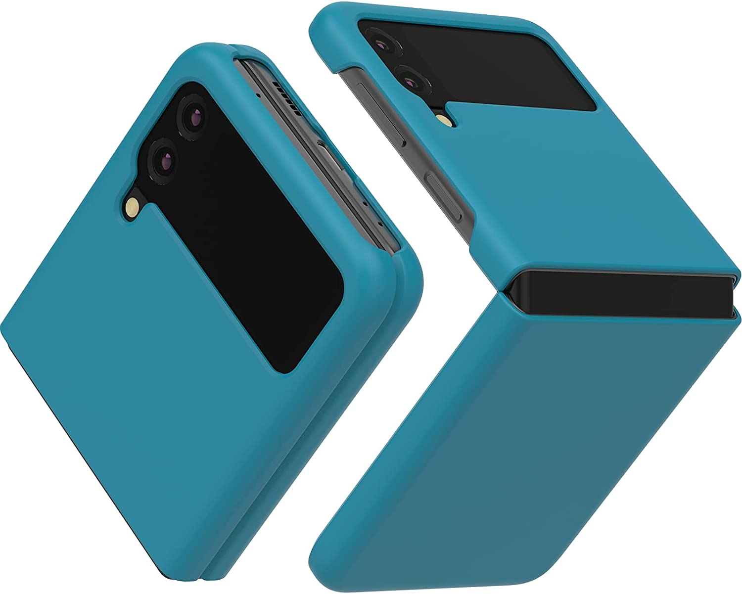 JUST4YOU Slim Fit Hard Case Compatible with Samsung Galaxy Z Flip3 - Blue