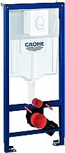 Grohe Rapid SLEnsemble 3en 1 pour WC suspendu (1,13m, supports muraux et plaque de chasse d'eau Skate Air)–Blanc alpin