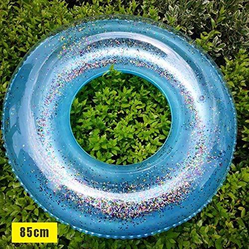 SPI transparante opblaasbare ring matras zwembuis glitter vlot ronde zwemmen ring zomer zwembad water matrassen volwassen bed zwembad speelgoed reus