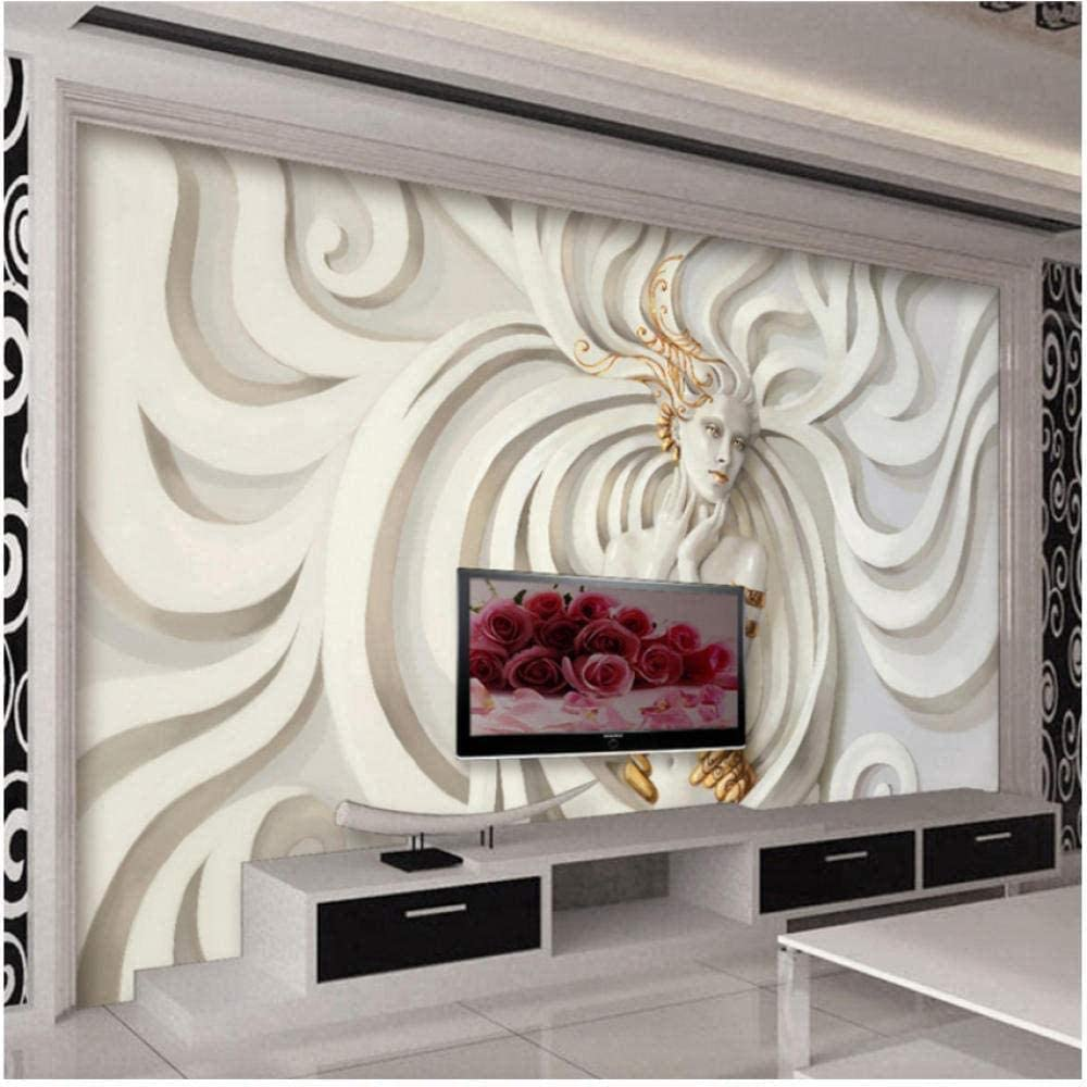 Modern Abstract Art Mural Wallpaper Stereo F overseas Wholesale Relief Sculpture 3D