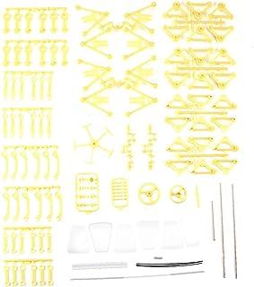 Wind Powered DIY Walking Walker Strandbeest Model Kits Nouveauté Jouet pour Enfants (Jaune)