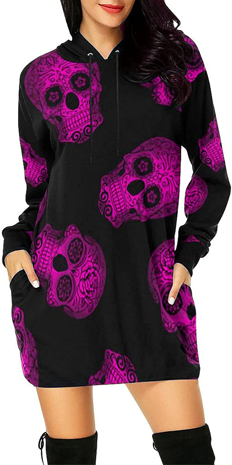 Clearance SALE! Limited time! Sales Halloween Sweatshirt for Women Skull Graphic Ca Hoodies Pullover