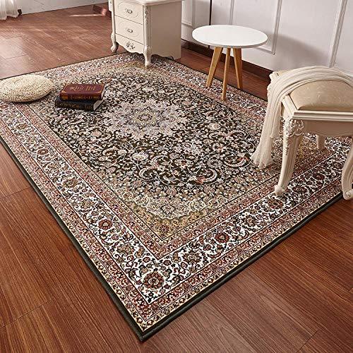 XIEING Alfombras Sala de Estar Lujosas alfombras de Dormitorio Alfombra Persa de Estilo Turco Estudio clásico Alfombras de Piso Área de Mesa de café Alfombra @ 4_400 mm x 600 mm