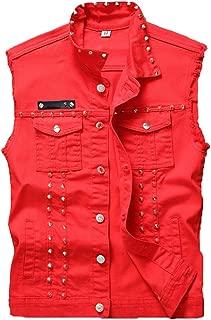 Best red denim sleeveless jacket Reviews