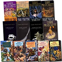 Terry Pratchett Collection Discworld 13 Books Set (The Light Fantastic, Pyramids, Carpe Jugulum, Wyrd Sisters, Interesting Times, Guards! Guards!, Reaper Man, Jingo, Thief of Time, Making Money, The Truth, Night Watch) (Discworld Collection)