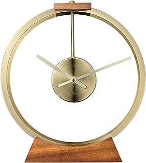Väckarklocka Lätt lyxbordsklocka Enkel Dekoration Metallplatta Klocka Batteridriven skrivbordsklocka som används i vardags...