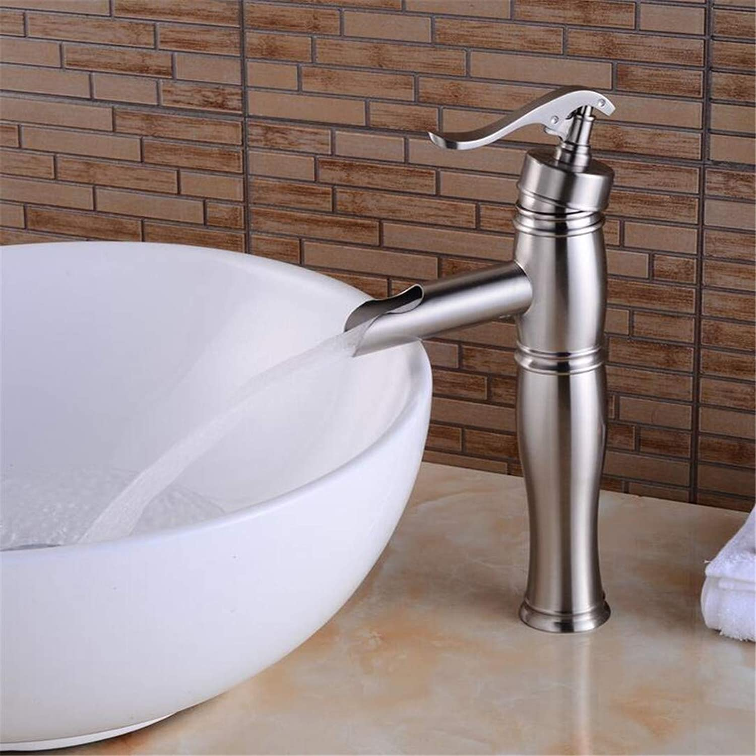 Faucet Washbasin Mixer ?Single Hole Deck Mounted Mixer Taps Bathroom Hot and Cold Water Basin Faucets