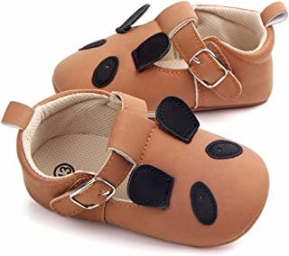 SOFMUO Unisex Infant Baby Girls Boys Slippers Toddler Cute Animals Cartoon First Walkers Loafer Shoes