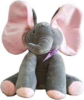 Animated Talking Singing Elephant Plush Toy ,Baby Animated Elephant Plush Cute Toys gift Stuffed Doll for Baby Tollders Kids Boys Girls Gift Present(pink)