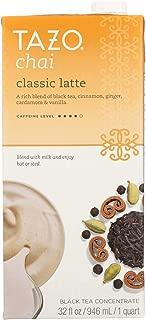 Tazo Concentrate Chai Latte Tea, 32 Ounce - 6 per case.